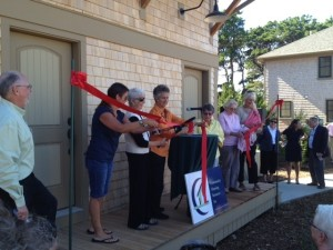 Cutting the Ribbon at Sally's Way Open House -- September 20, 2013